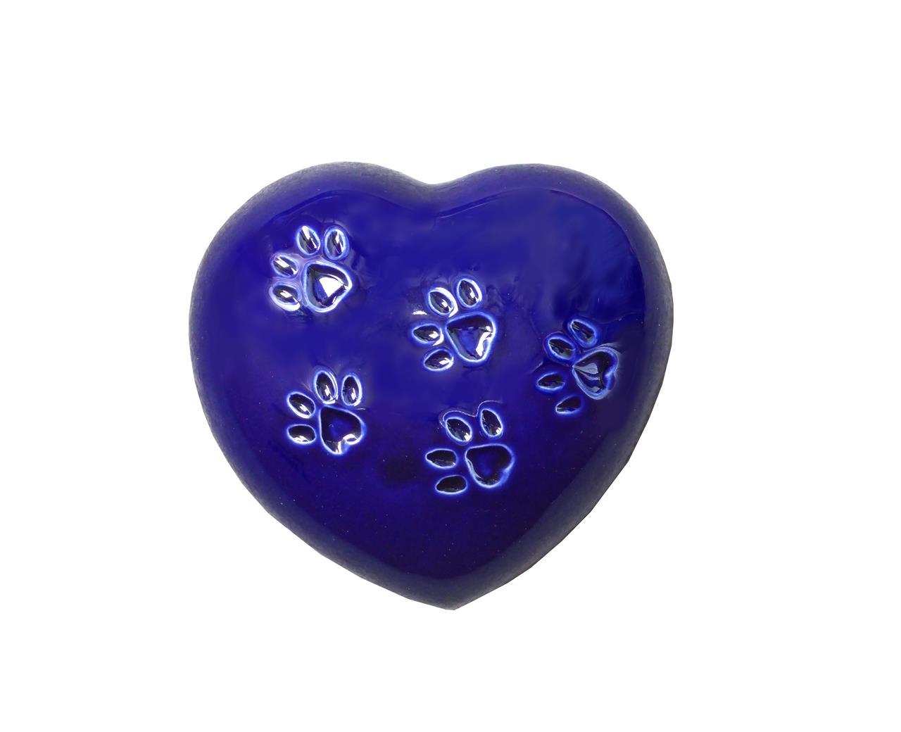 Urna cuore blu animali - Bertoncello Graziano